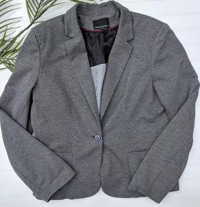 Cynthia Rowley Gray Knit Single Button Blazer